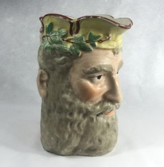 Staffordshire pottery jug, head of Bacchus, c. 1870-0