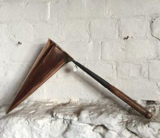 Victorian copper 'Ass's Ear' ale warmer, 19th century -0