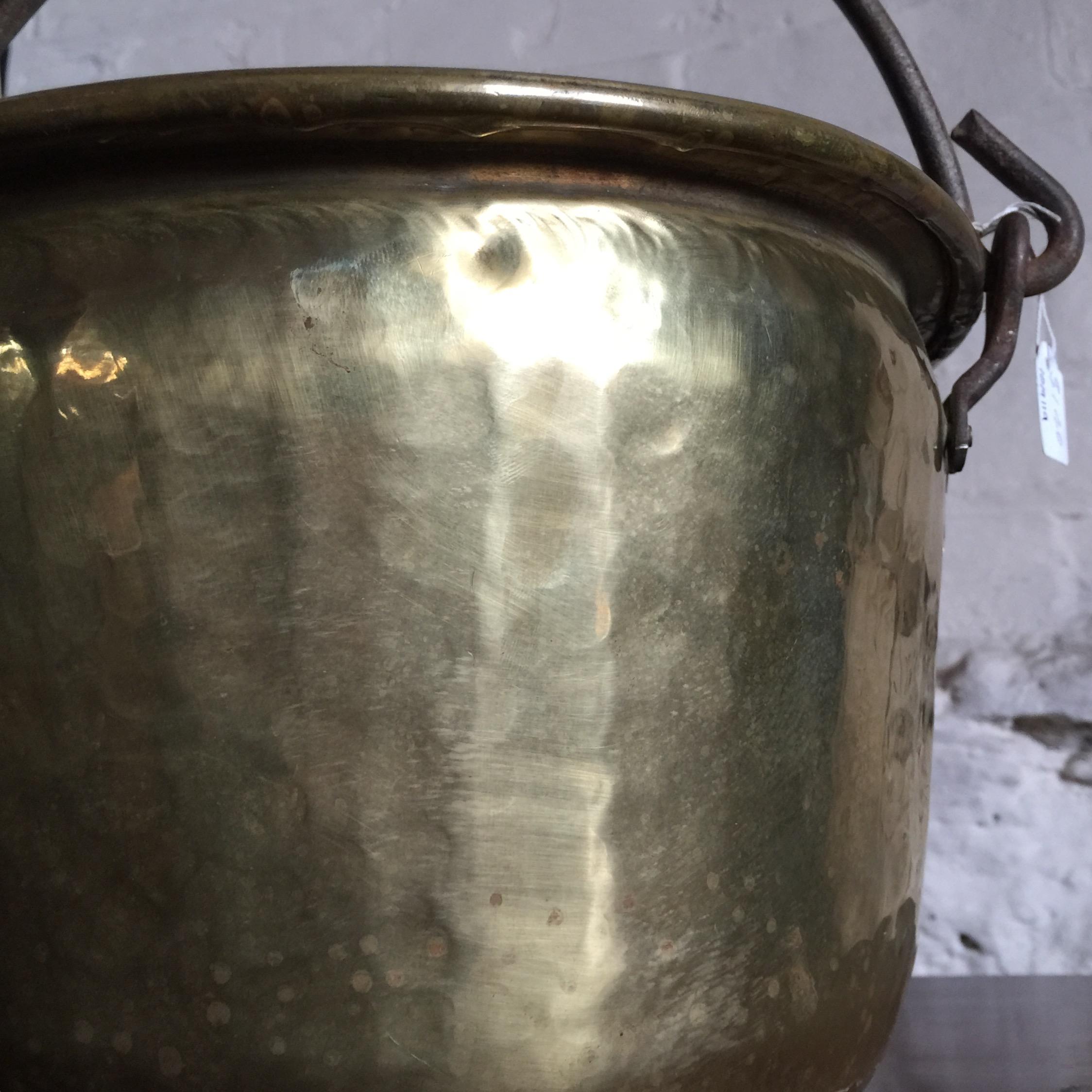 Brass Pot With Iron Handle 19th Century Moorabool