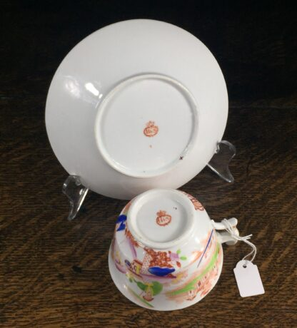 London shape cup & saucer, Chinoiserie print, Hilditch, c. 1825-13837