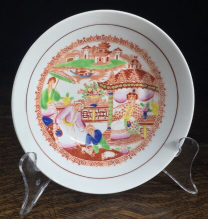 London shape cup & saucer, Chinoiserie print, Hilditch, c. 1825-13838