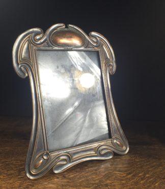 Edwardian photo frame, patinated bronze finish, c.1910-0