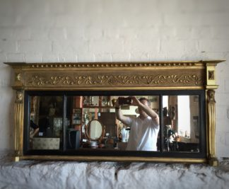 Regency Egyptianesque overmantle mirror, Circa 1825-0