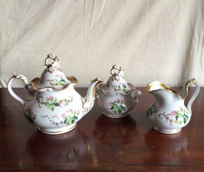 Bohemian porcelain Tea Set, Flowers & Gold, circa 1885-14131