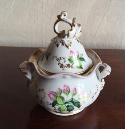 Bohemian porcelain Tea Set, Flowers & Gold, circa 1885-14132