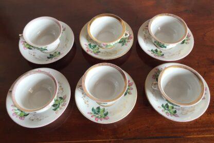 Bohemian porcelain Tea Set, Flowers & Gold, circa 1885-14133