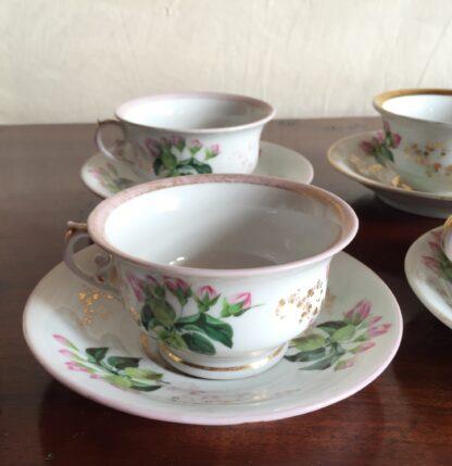 Bohemian porcelain Tea Set, Flowers & Gold, circa 1885-14134