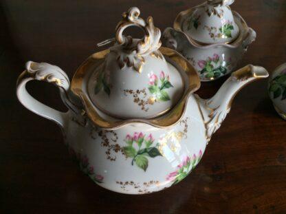 Bohemian porcelain Tea Set, Flowers & Gold, circa 1885-14135