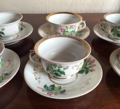 Bohemian porcelain Tea Set, Flowers & Gold, circa 1885-14136