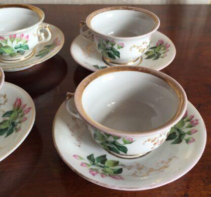 Bohemian porcelain Tea Set, Flowers & Gold, circa 1885-14139