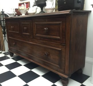 Large Australian cedar shop counter, c. 1870 -0