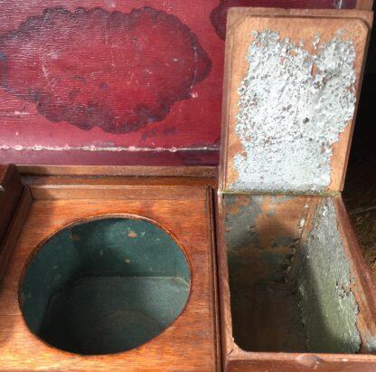 Georgian Mahogany tea caddy, flush brass handle, circa 1820-14221