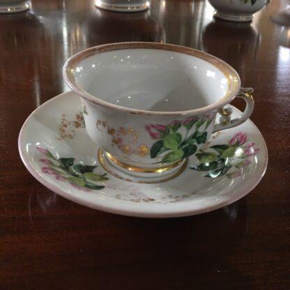 Bohemian porcelain Tea Set, Flowers & Gold, circa 1885-29306