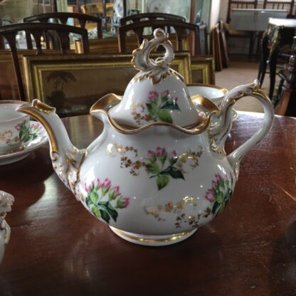 Bohemian porcelain Tea Set, Flowers & Gold, circa 1885-29308