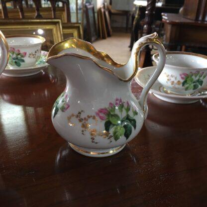 Bohemian porcelain Tea Set, Flowers & Gold, circa 1885-29305