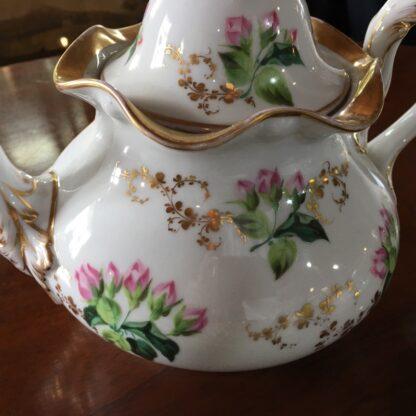 Bohemian porcelain Tea Set, Flowers & Gold, circa 1885-29312