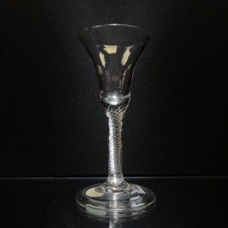 Georgian air twist stem wine glass, circa 1770-0