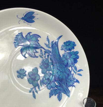 Pair of Minton dishes, turquoise flowers, pat. B308, dated 1873-14468