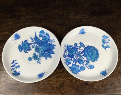 Pair of Minton dishes, turquoise flowers, pat. B308, dated 1873-14470