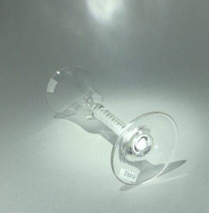 Georgian air twist stem wine glass, c.1770-14537