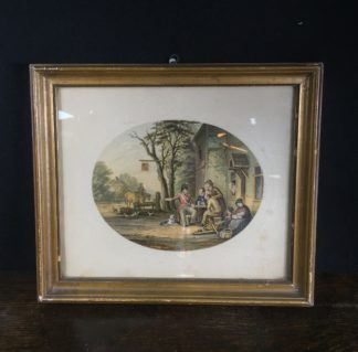 Framed Le Blond Baxter print of the Soldiers Return, published 1854-67-0