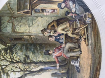Framed Le Blond Baxter print of the Soldiers Return, published 1854-67-14581