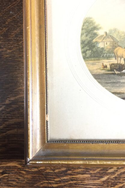 Framed Le Blond Baxter print of the Soldiers Return, published 1854-67-14583