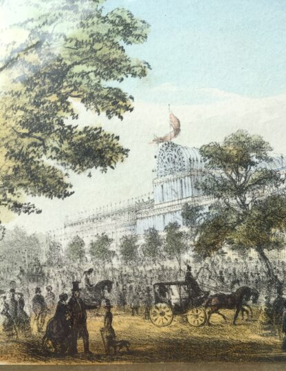 "Coloured print ""The Crystal Palace for the great Exhibition, Hyde Park, 1851""-14633"