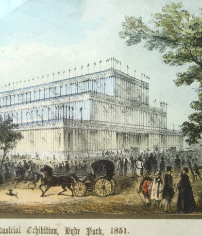 "Coloured print ""The Crystal Palace for the great Exhibition, Hyde Park, 1851""-14635"