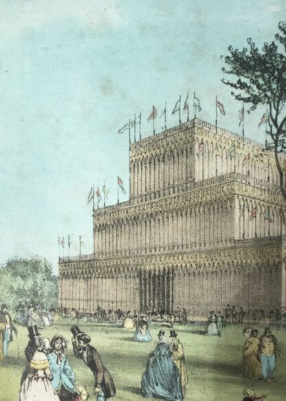 Coloured print of the Crystal Palace London for the Great Exhibition 1851 -14641