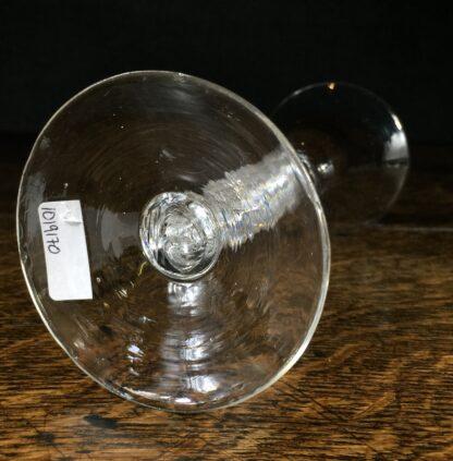 Georgian air twist stem wine glass with trumpet bowl, c.1770-14673