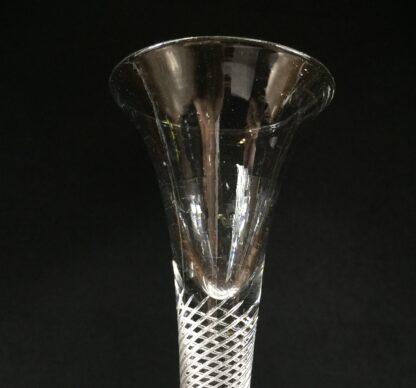 Georgian air twist stem wine glass with trumpet bowl, c.1770-14674