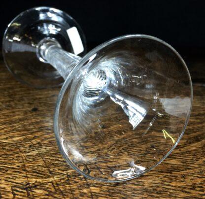 Georgian air twist stem wine glass with trumpet bowl, c.1770-14676
