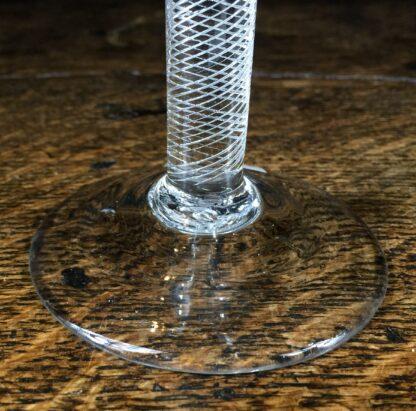 Georgian air twist stem wine glass with trumpet bowl, c.1770-14677
