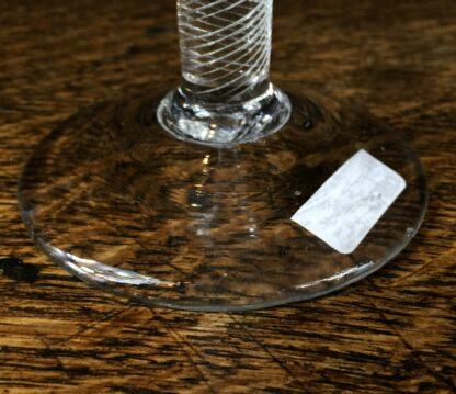 Georgian air twist stem wine glass with trumpet bowl, c.1770-14678