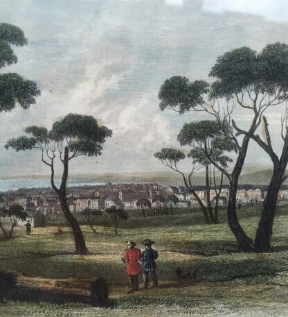 Coloured print of Geelong, 19th C -14727