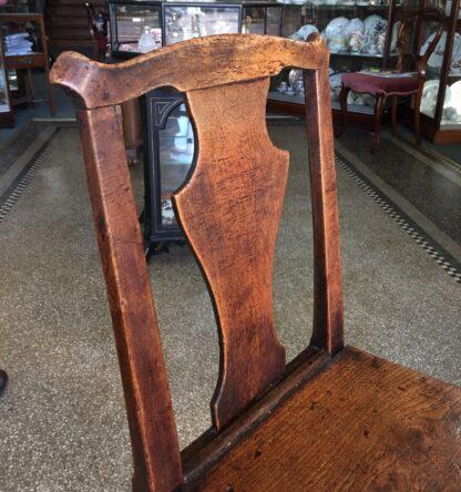 Country elm chair, vase shape splat, c.1800-14738
