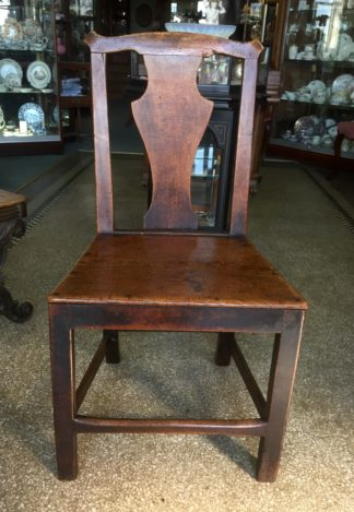 Country elm chair, vase shape splat, c.1800-0
