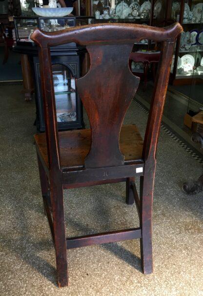 Country elm chair, vase shape splat, c.1800-14741