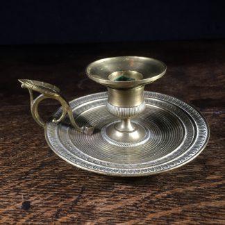 Victorian brass chamber candlestick c.1860-0