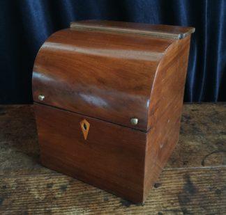 Georgian mahogany drum top box, c. 1810-0