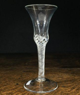 Georgian air twist stem wine glass, c.1770-0