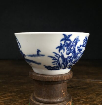 Very Rare Worcester teabowl, '2 Swan Precipice' printed pattern, c. 1757-60-14967