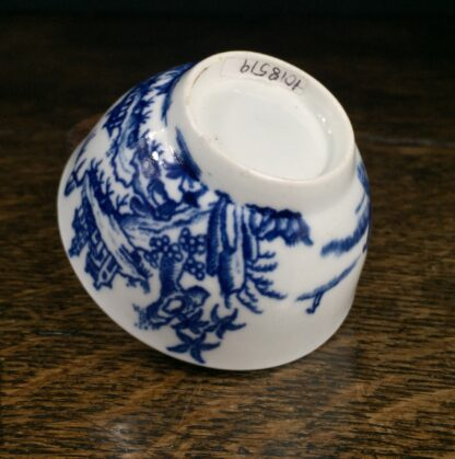 Very Rare Worcester teabowl, '2 Swan Precipice' printed pattern, c. 1757-60-14974