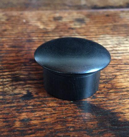 Ebony pill box, French c. 1900-0
