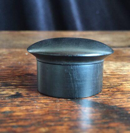 Ebony pill box, French c. 1900-15002