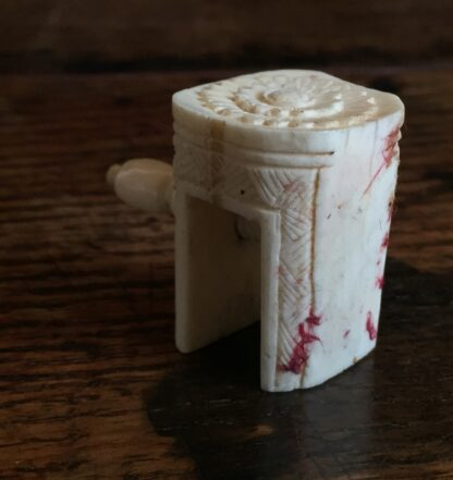 Carved Ivory sewing tool, hemming clamp, Chinese 19th century-15068