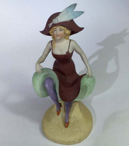 German bisque porcelain figure of a dancing lady, c. 1910-15074