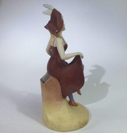 German bisque porcelain figure of a dancing lady, c. 1910-15076