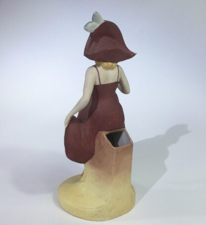 German bisque porcelain figure of a dancing lady, c. 1910-15078